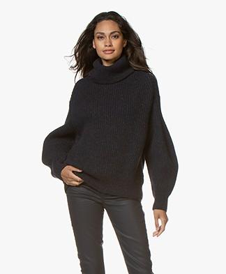 Closed Alpaca Blend Rib Turtleneck Sweater - Dark Night