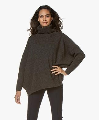 Sibin/Linnebjerg Tallulah Lurex Turtleneck Sweater - Army