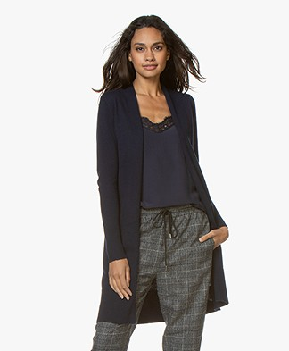 Josephine & Co Guno Mid-length Wool Blend Cardigan - Navy