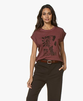 MKT Studio Together Print T-shirt - Grenat