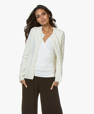 Repeat Luxury Cashmere Kort Vest - Crème