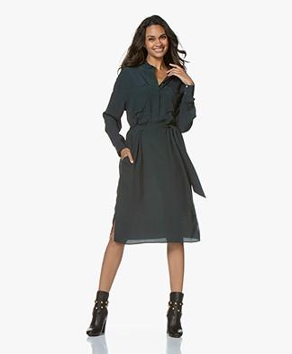 Repeat Viscose Crepe Midi Dress - Algae