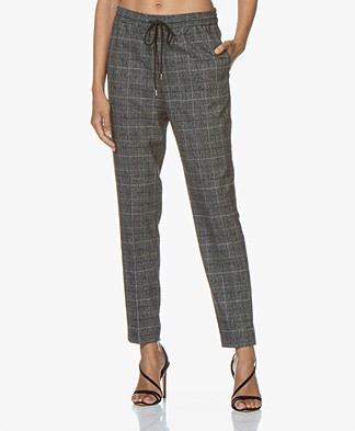 Repeat Checkered Loose-fit Pants - Grey/Blue
