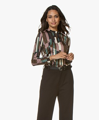 SIYU Cubos Jersey Print Long Sleeve - Multicolored