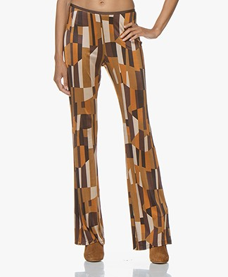 SIYU Cubos Jersey Print Broek - Multicolored