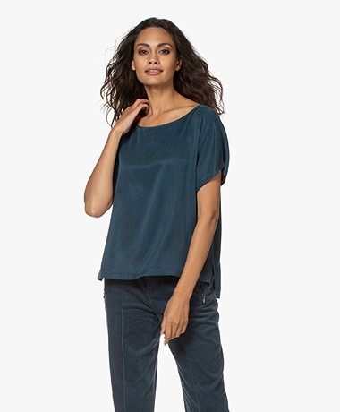 Drykorn Somia Cupromix Blouse - Deep Dive