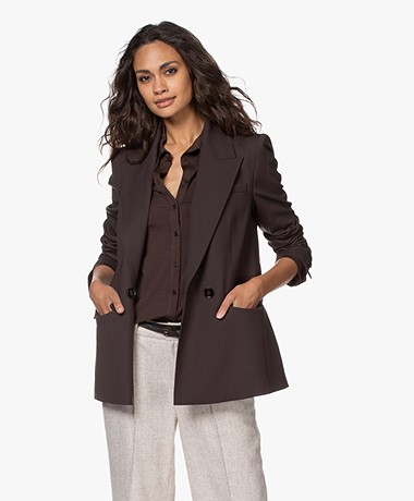 Drykorn Masher Double-breasted Blazer - Espresso