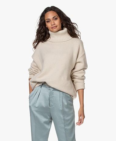 extreme cashmere N°20 Oversized Cashmere Coltrui - Latte