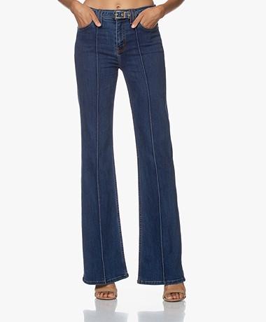 Current/Elliott The Admirer Flared Jeans met Ceintuur - Scorpio