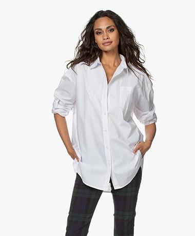 Josephine & Co Joost Oversized Poplin Shirt - White