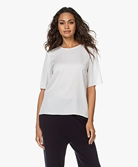 Filippa K Silk Short Sleeve Blouse- White