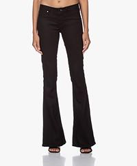 Denham Farrah Super Flare Jeans - Zwart