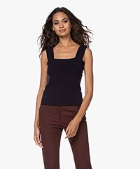 extreme cashmere N°127 Cara Knitted Cashmere Tank Top - Navy
