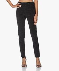 no man's land Corduroy Slim-fit Pantalon - Dark Slate