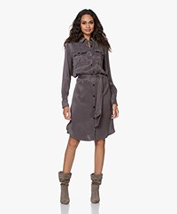 Josephine & Co Jitse Tencel Blend Shirt Dress - Grey