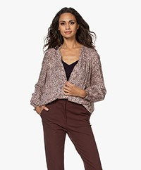 indi & cold Viscose Print Blouse - Powder Pink/Burgundy