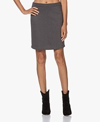 no man's land Jacquard Jersey Mini Rok - Zwart