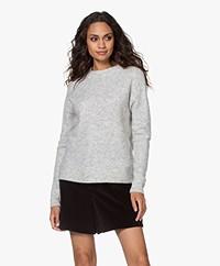Josephine & Co Jordi Alpaca Blend Knitted Sweater - Silver Grey