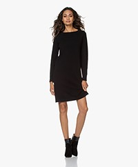no man's land Merino Wool and Cashmere Dress - Black