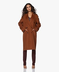 Joseph Carles Double-face Wool-Cashmere Coat - Fox