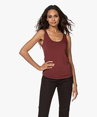 Majestic Filatures Abby Soft Touch Jersey Tank Top - Cabernet