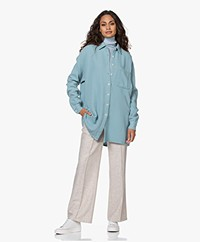 American Vintage Kyobay Long Oversized Shirt - Antarctica