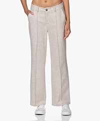 Josephine & Co Jolien Wool Blend Straight-leg Pants - Sand