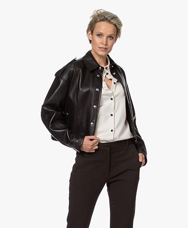 IRO Eigo Lambs Leather Biker Jacket - Black