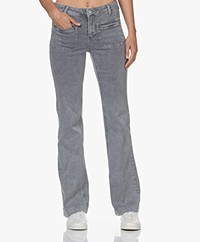 MKT Studio The Diana Vintage Twill Flared Jeans - Grey