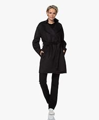 Filippa K Edina Halflange Wollen Mantel - Zwart
