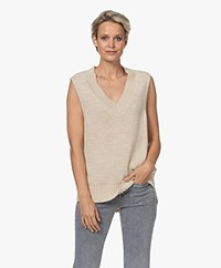 by-bar Penny Fine Knitted Spencer - Sand