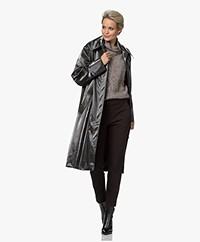 Les Coyotes de Paris Pierre Knee-length Rain Coat - High Gloss Check