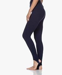 American Vintage Tidsburg Slim-fit Wolmix Legging - Navy