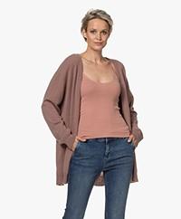 LaSalle Oversized Cashmere Vest - Mauve