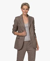 LaSalle Virgin Wool Blend Blazer - Taupe