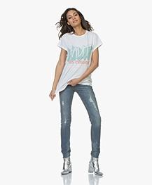 ba&sh Virgin Slub Jersey Print T-shirt - Wit
