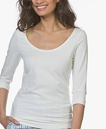 Josephine & Co Cher T-Shirt met Driekwart Mouwen - Off-white