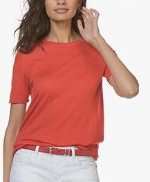 Joseph Cashair T-shirt in Puur Cashmere - Tomato