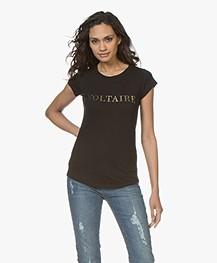 Zadig & Voltaire Skinny Voltaire Print T-shirt - Zwart