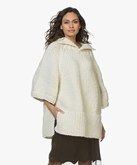I Love Mr Mittens Maxi Chunky Knit Sweater - Cream