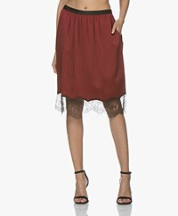 Joseph Crepe Satin Skirt - Crimson