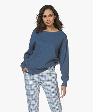 American Vintage Sonoma Katoenen Sweatshirt - Mediterranean
