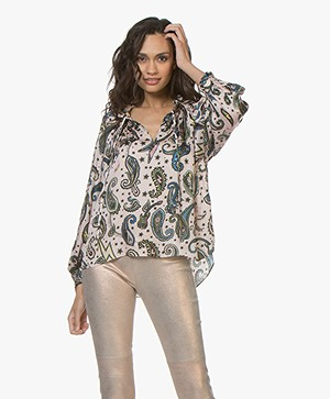 Zadig & Voltaire Theresa Paisley Print Blouse - Corolle