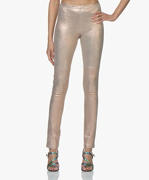 Mes Demoiselles Esther Leather Leggings - Pink