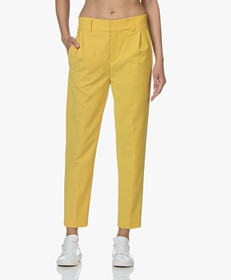 Drykorn Find Tapered Wool Blend Pants - Yellow