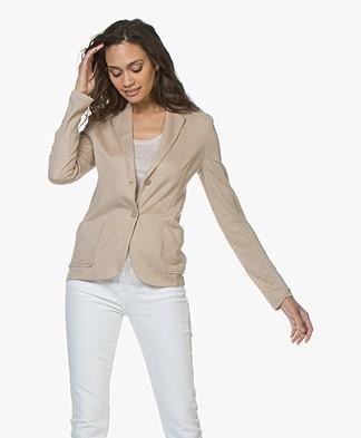 Majestic Filatures Linen Blend Jersey Blazer - Ficelle