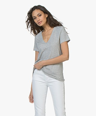 Rag & Bone The Vee T-shirt - Heather Grey