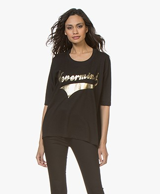 Zadig & Voltaire Portland Nevermind Print T-shirt - Zwart