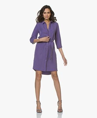 Josephine & Co Clinton Tencel Shirt Dress - Purple