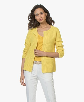 Sibin/Linnebjerg Lulu Short Cardigan - Yellow